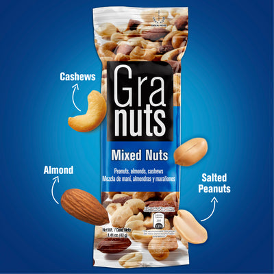 Granuts Mixed Nuts Display 1.41 Oz - 12 ct