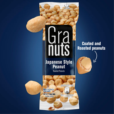 Granuts Roasted Peanuts (Japanese Style) Display 1.76 Oz - 12 ct