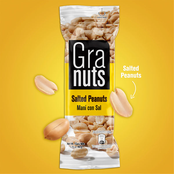 Granuts Salted Peanuts Display 1.76 Oz - 12 ct