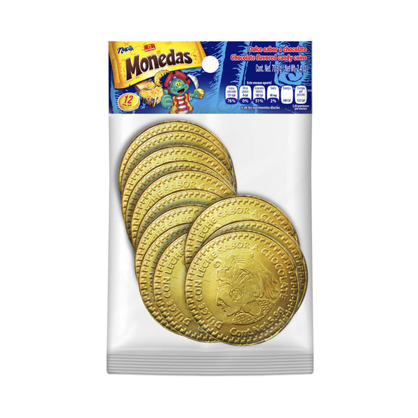 Nucita Chocolate Coins Bag 2.4 Oz - 12 ct
