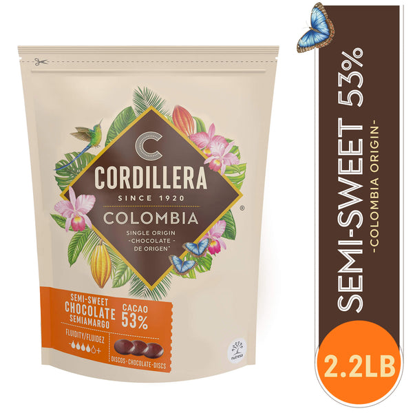 Cordillera Colombian Semi-Sweet 53% Chocolate - 2.2 Lb