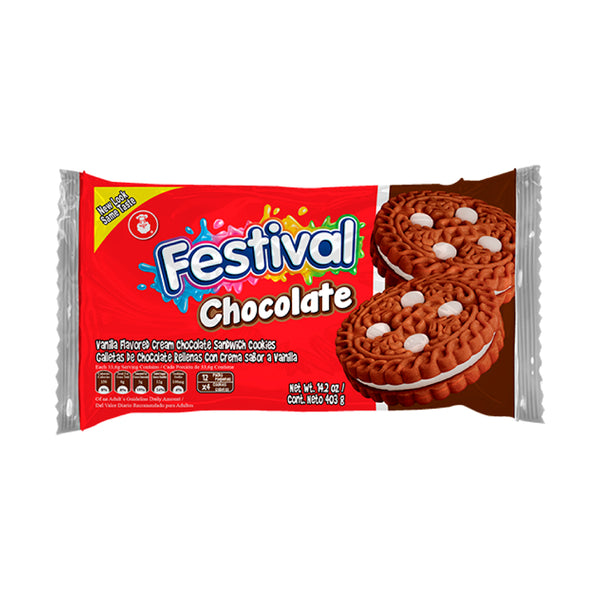 Festival Chocolate Creme Cookie To Go 14.1 Oz - 12 ct