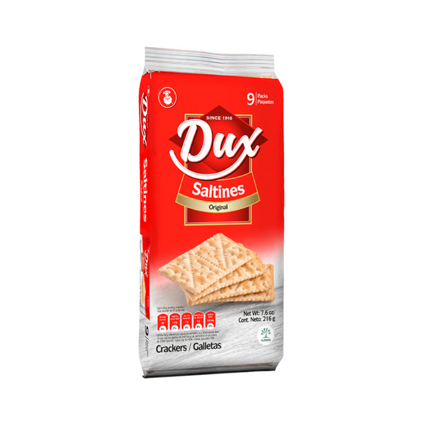 Dux Salted Crackers Bag 8.8 Oz - 9 ct