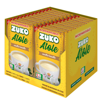 Zuko Atole Vanilla Display 24 ct x 1.6 Oz