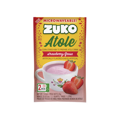 Zuko Atole Strawberry Display 24 ct x 1.6 Oz