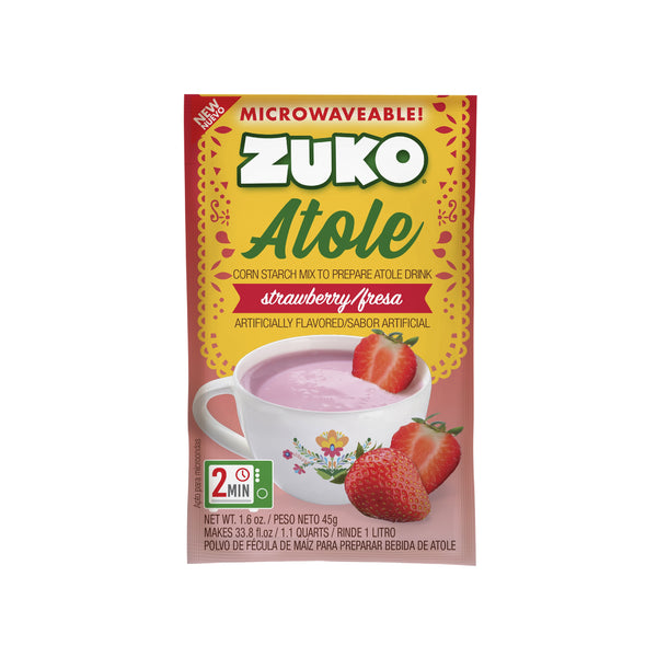 Zuko Atole Fresa Display 24 ct x 1.6 Oz