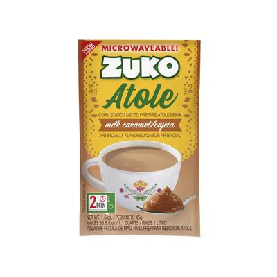 Zuko Atole Milk Caramel Display 24 ct x 1.6 Oz
