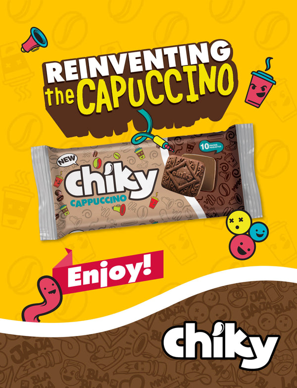 Chiky Capuccino Cookies bag 14.1 Oz - 10 ct