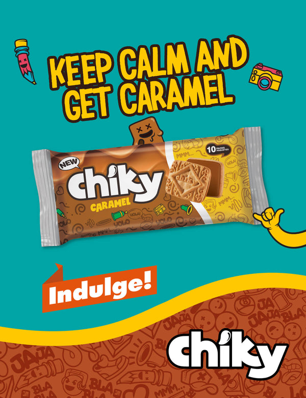 Chiky Caramel Cookies bag 14.1 Oz - 10 ct