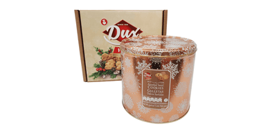 Dux Holiday Circular Tin Cookies - 33.16 Oz