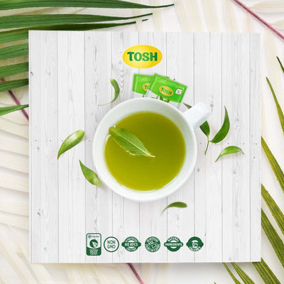 Tosh Infusion Peppermint Green Tea 0.84 Oz - 20 ct
