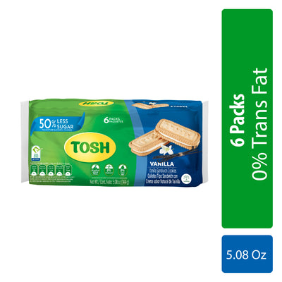 Tosh Vanilla Cookies 5.08 Oz - 6 ct