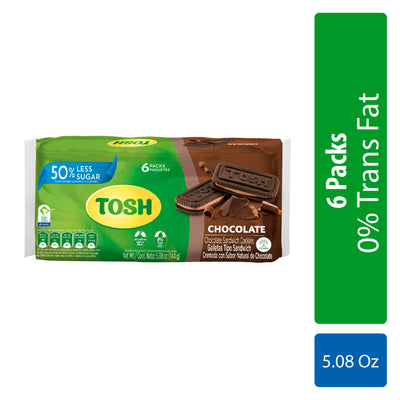 Tosh Galleta De Chocolate 5.08 oz - 6 ct