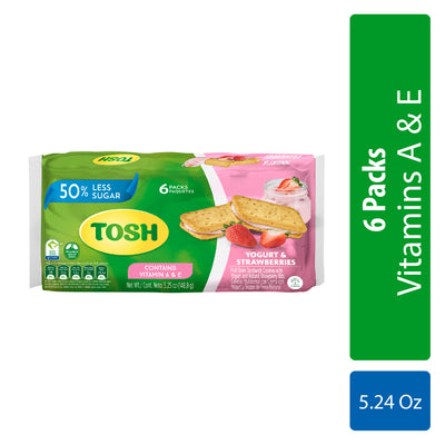 Tosh Yogur Y Galletas De Fresa 5.24 Oz - 6 ct