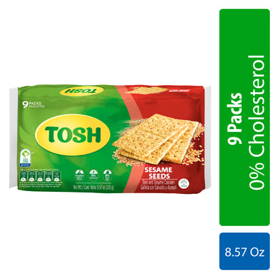 Tosh Sesame Crackers 8.57 Oz - 9 ct