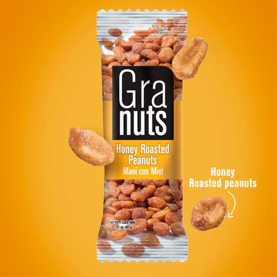 Granuts Honey Peanuts Display 1.76 Oz - 12 ct