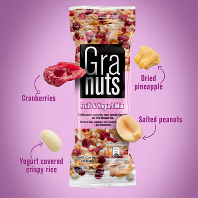 Granuts Yogurt Mix Display 1.41 Oz - 12 ct