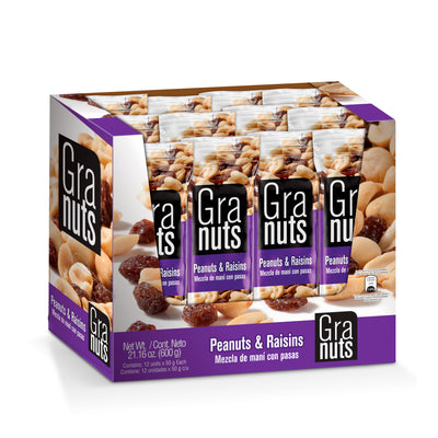 Granuts Nueces & Pasas Display 1.76 oz - 12 ct