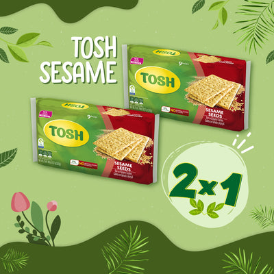 BOGO Tosh Sesame Crackers 8.57 Oz - 9 ct