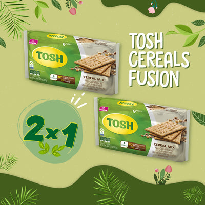 BOGO Tosh Multigrain Crackers 9.05 Oz - 9 ct