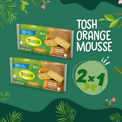 BOGO Tosh Orange Mousse Cookies 5.25 Oz - 6 ct