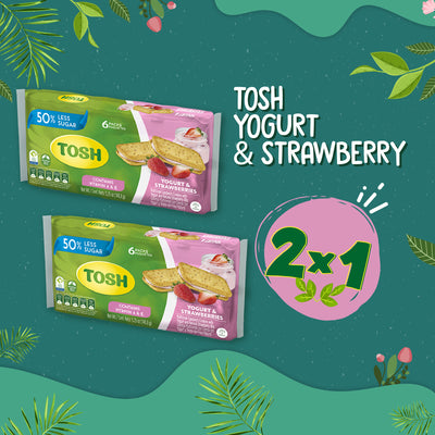 BOGO Tosh Yogurt And Strawberry Cookies 5.24 Oz - 6 ct