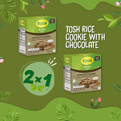 BOGO Tosh Rice Cookie With Chocolate & Almonds 5.5 Oz - 6 ct