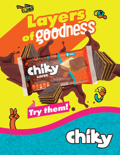 Chiky Wafer Bag 7.3 Oz - 8 ct