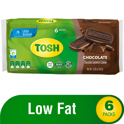 Tosh Chocolate Cookie 5.08 Oz - 6 ct