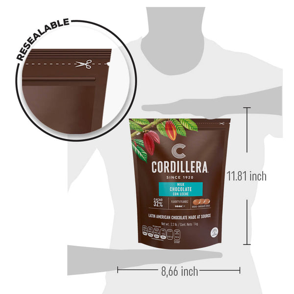 Cordillera Latin America 32% Milk Chocolate - 2.2 Lb