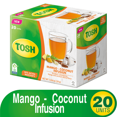 Tosh Infusion Mango Coconut 0.84 Oz - 20 ct