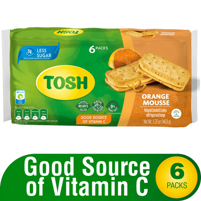 Tosh Orange Mousse Cookies 5.25 Oz - 6 ct