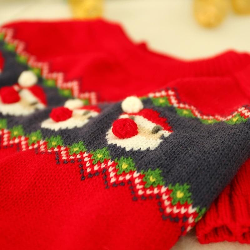 Knitted Santa Chihuahua Sweater - Chihuahua We Love