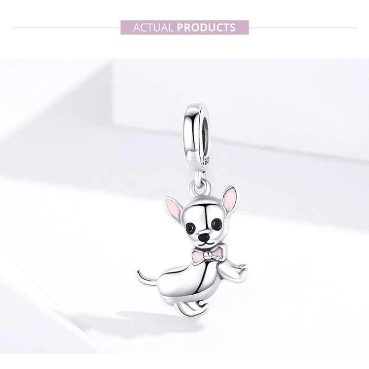 925 Real Sterling Silver Chihuahua Pendant - Chihuahua We Love