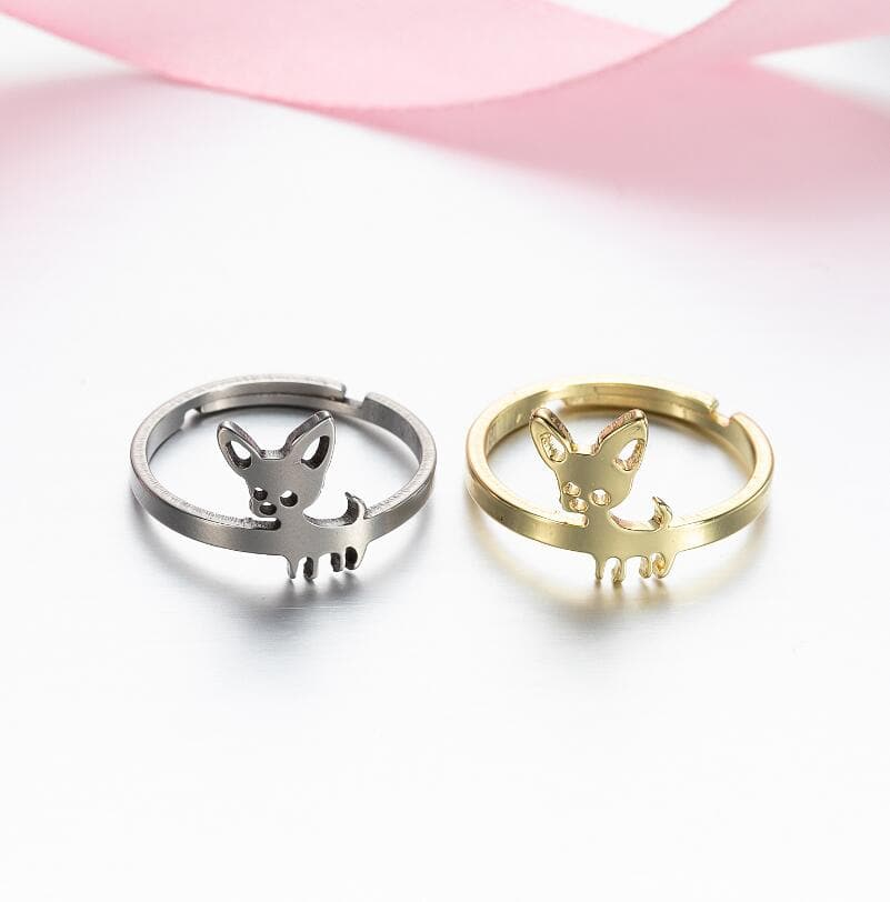 Chihuahua Adjustable Finger Ring - Chihuahua We Love