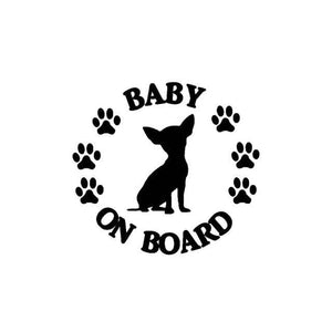 "Chihuahua Sticker ""Baby on board"" - Chihuahua We Love"