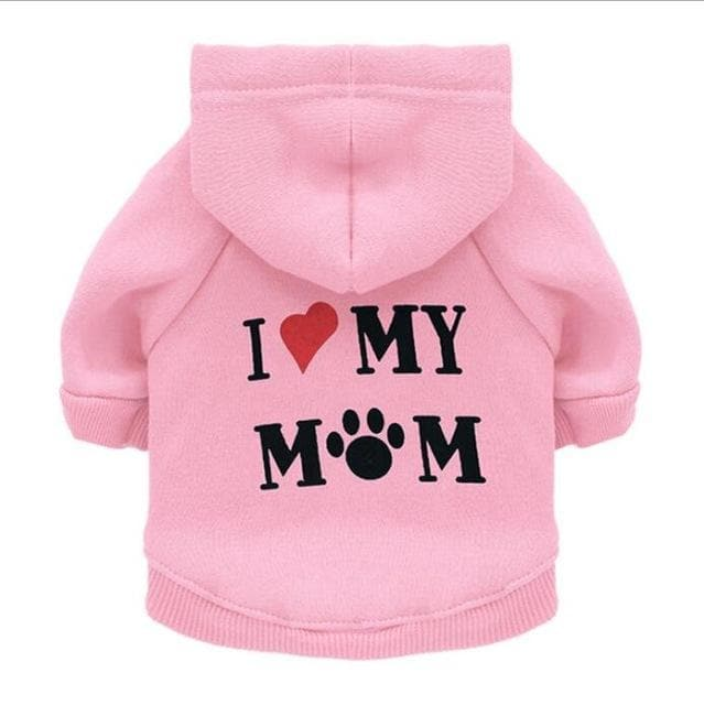 """I Love My Mom"" Hoodie - Chihuahua We Love"