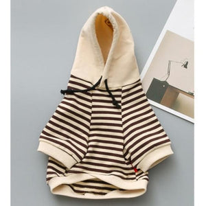 Cotton Striped Chihuahua Hoodie - Chihuahua We Love