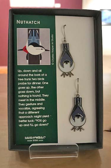 David Howell Charley Harper Nuthatch Earrings