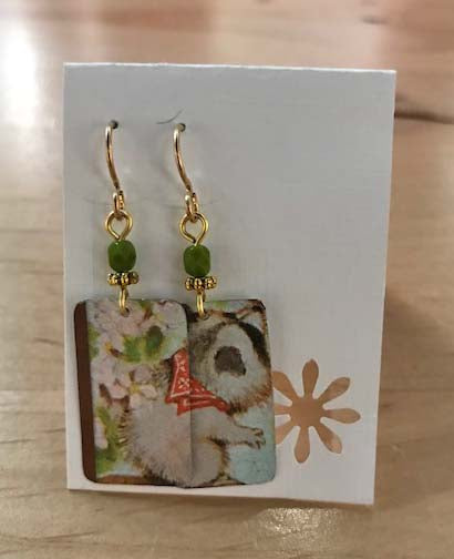 Lori Kovash Earrings Made From Recycled Materials | Koala Rectangles