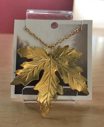 Red Truck Designs Gold Maple Leaf Necklace