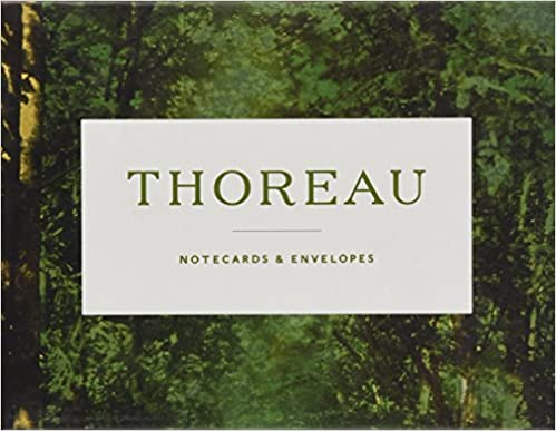 Henry David Thoreau Essay Quotes Notecards with Envelopes