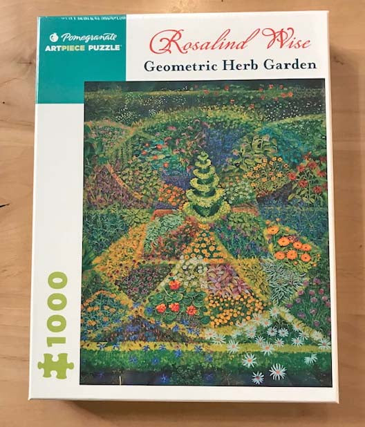 Geometric Herb Garden Jigsaw Puzzle | Rosalind Wise | 1,000 Pieces