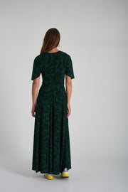 Beverley Dress - Green Black