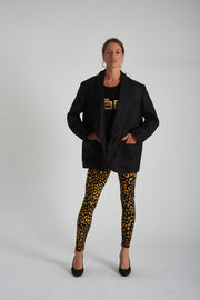 Donna Legging - Black Yellow
