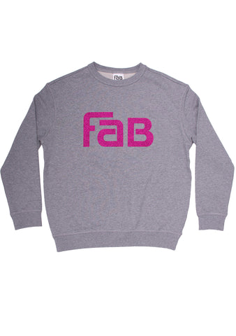 FAB Crew - Grey / Pink Sparkle