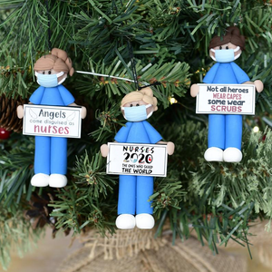 """Angels come disguised as nurses!"" Xmas Tree Decor"