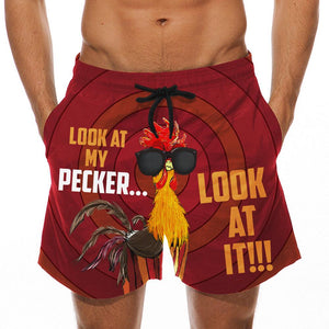 Look At My Pecker - Custom Swim Trunks