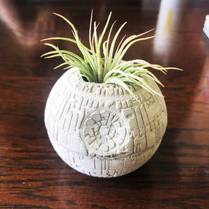 Small Concrete Death Star Planter