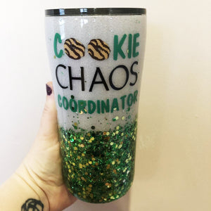 Girl Scout Cookie Glitter Tumbler